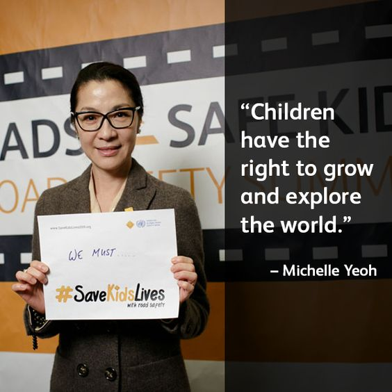 Actress and activist Michelle Yeoh spoke at our recent #SafeRoadsSafeKids Global Road Safety Summit, emphasizing the importance of road safety for children. Find out more about the cause at SafeKids.org/RoadSafety. #SaveKidsLives #RoadSafety #savekids #michelleyeoh #safie