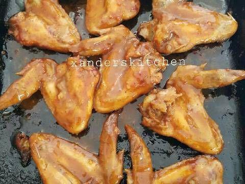 Resep Spicy Garlic Chicken Wings Oleh Xander S Kitchen Resep Sayap Ayam Sriracha Resep