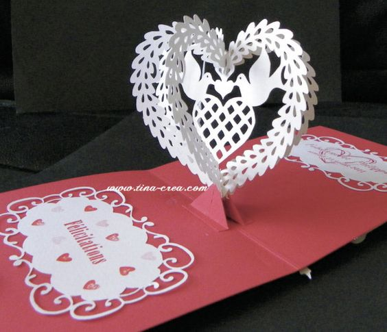 carte mariage pop up - Faire Part Mariage Kirigami
