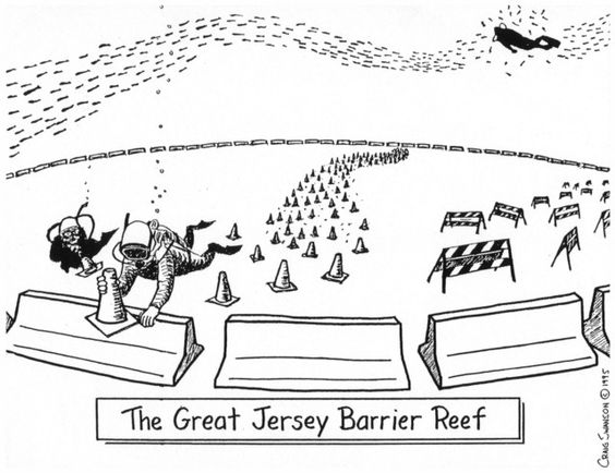 The Great Jersey Barrier reef.