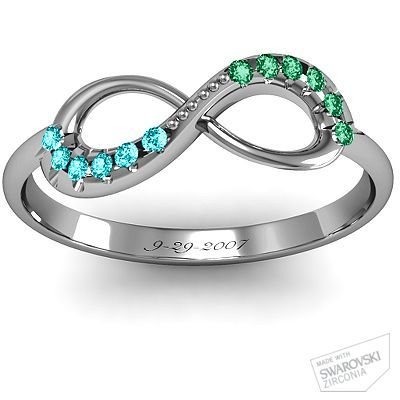 Couples Infinity Accent Ring