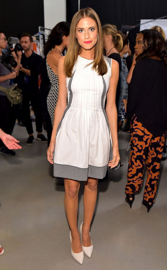 Allison Williams from Stars at New York Fashion Week Spring 2015 | E! Online