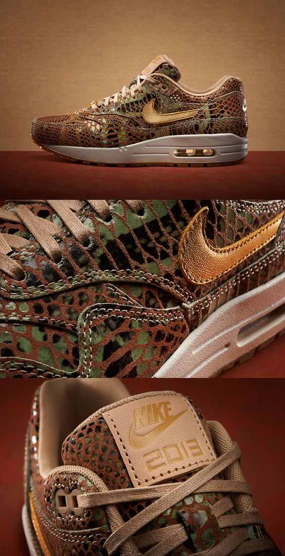 Nike takes the Air Max 1, a running icon, and veneers it reptilian in celebration of the Year of the snake.