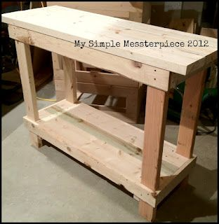 DIY table. Want to build this and add walls to make a raised garden bed!
