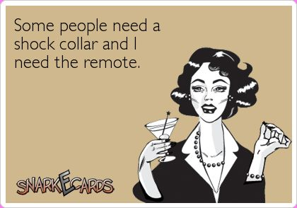 Some people need a shock collar and I need the remote. | Snarkecards
