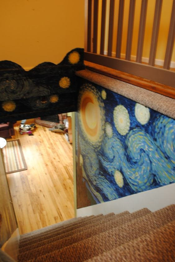 Van Gogh's Starry Night in a stairwell