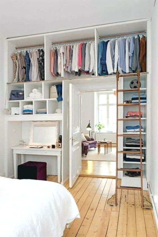 Small Bedroom Set Fitted Wardrobe Bedroom Fitted Small Smallhomedecor Wardrobe Bedroomsets Quartos Minusculos Quarto Diy Espacos Pequenos