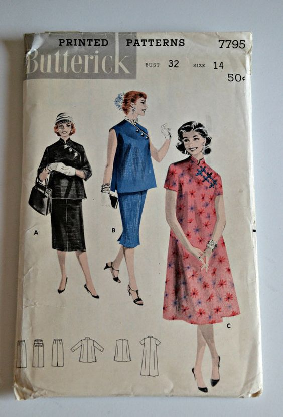Vintage Mutterschaft Schnittmuster - Butterick 7795-
