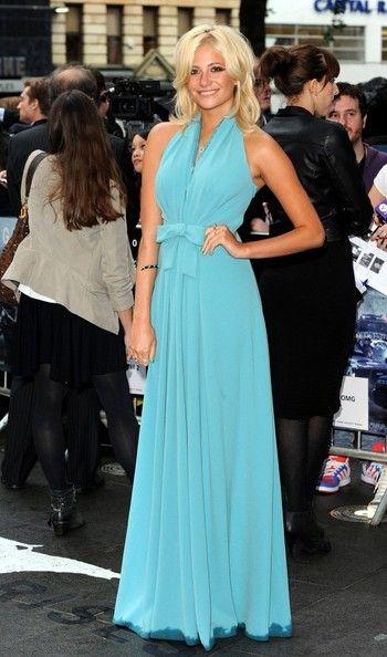 Pixie Lott's blue dress