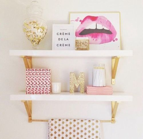 image de pink room and gold - Chambre Rose Gold