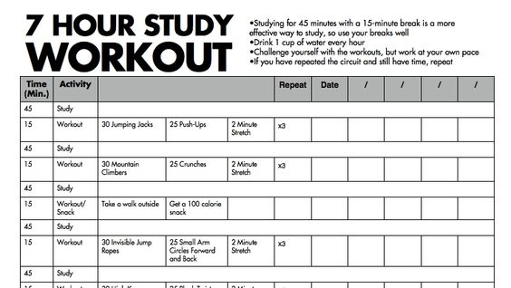Study and Workout