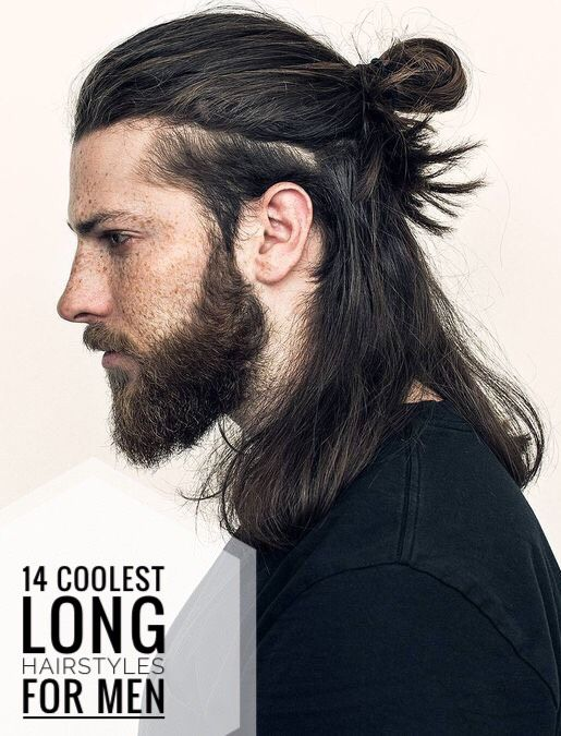14 Long Hairstyles For Men Long Hair Styles Men Long Hair Styles Mens Hairstyles With Beard