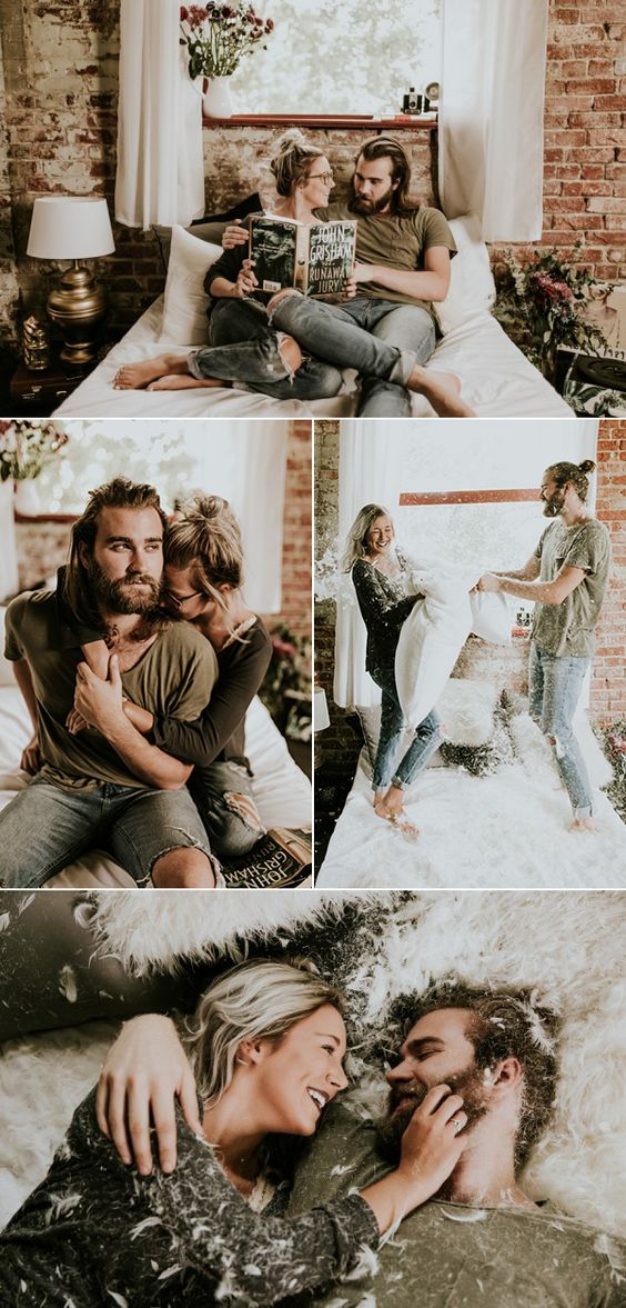 cozy + snuggly engagement photos by Vic Bonvinci Photography
