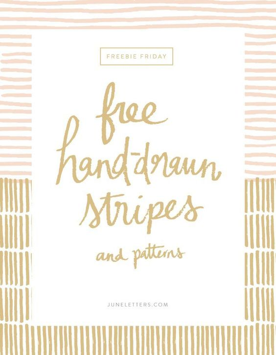 Hand-drawn Vector Stripes and Patterns — June Letters Studio
