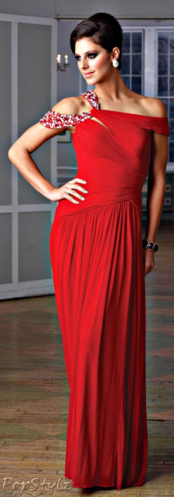 Terani Couture Bright Red Gown