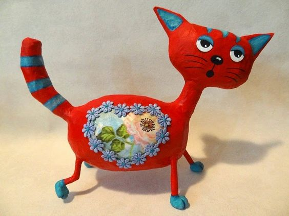 Alegria do Papel : GATO VERMELHO - RED CAT