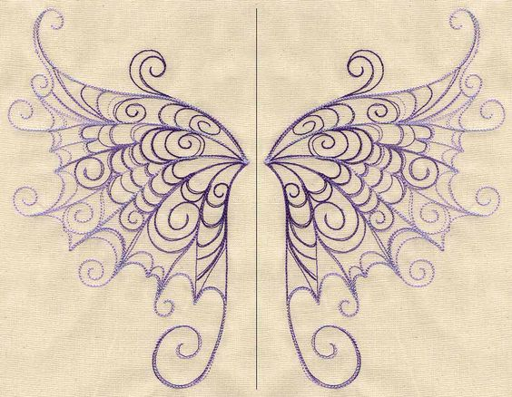 Delicate Wings (Wing Pair) by Urban Threads