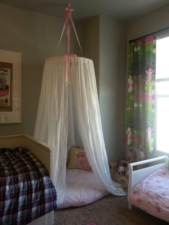 Hula Hoop Tent Canopy: I used a 36