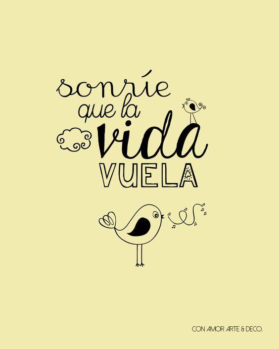 sonrie que la vida vuela >>>
