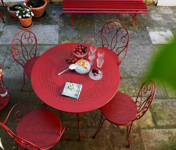 salon de jardin en fer forg trs cher chez fermob - Salon De Jardin Mtal Color