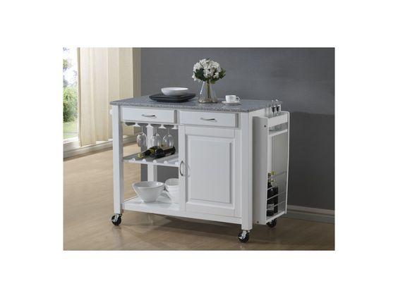 Küchenwagen Servierwagen Holz Owen - Weiß neue Wohnung - küchenwagen aus holz