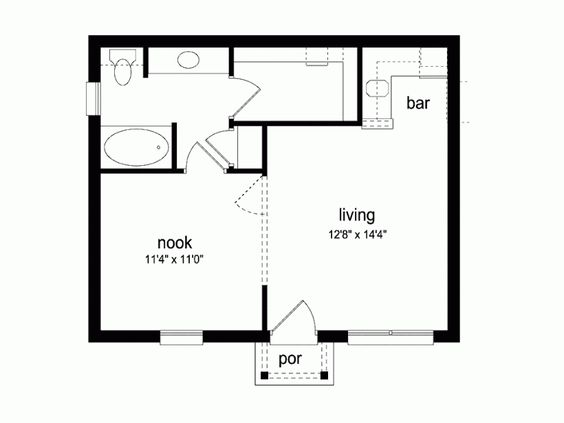 House Plans Cottages And Squares On Pinterest