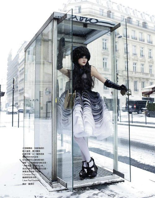 Chin Hsi by Tim Ho for Vogue Taiwan March 2012 as 'Parisian Lady'