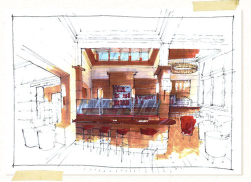 Interior Sketches And Hand Rendered Marker Visuals By Richard Chadwick | Interior  Design Sketches | Pinterest