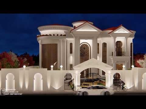 فيلا دورين على الطراز الكلاسيكي اكساء حجر Classic Villa Youtube Classic House Design Modern House Exterior Modern Villa Design