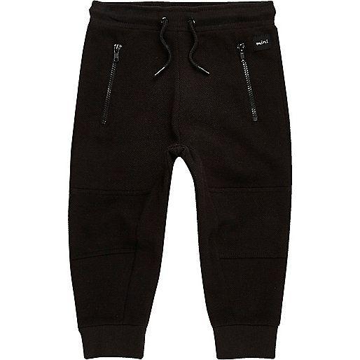 Schwarze Jogginghose mit Reißverschluss