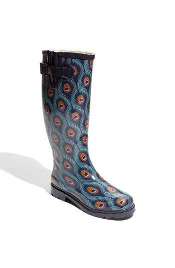 Chooka 'Peacock City' Rain Boot $64.95 | Pretty Shoes | Pinterest ...