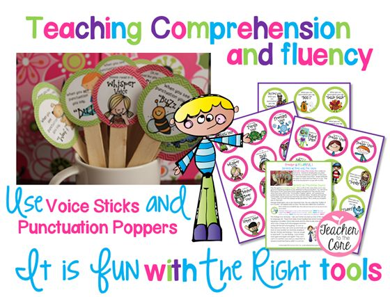 Teaching comprehension and fluency 101 and freebie top for Reading blueprints 101