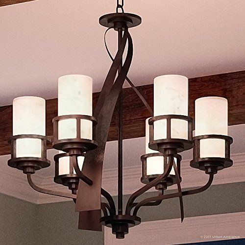 Luxury Rustic Chandelier Medium Size 28h X 28w With Craftsman Style Elements Banded Wrought Iron Desi Wrought Iron Design Rustic Chandelier Craftsman Style