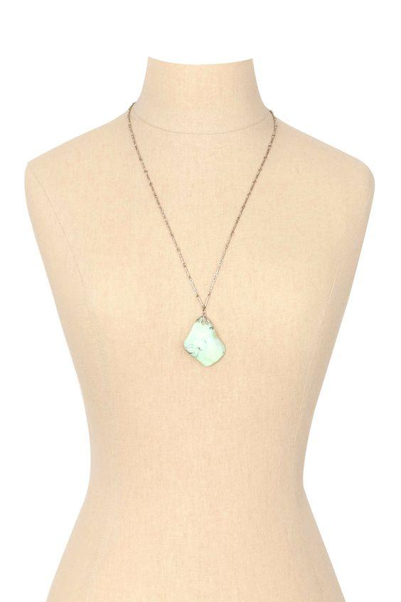 50's__Vintage__Turquoise Pendant Necklace