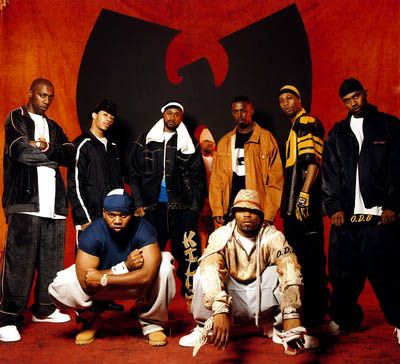 Cousins and buddies from Staten Island and Brooklyn form the nine member supergroup Wu-Tang Clan. Their debut album Enter the Wu-Tang: 36 Chambers brings NYC hip hop back into the forefront. Boasting straight-in-your-face freestyle rhyming the tag team of talented MCs immediately begin to produce numerous solo albums. Credit: The Wu Tang Corporation.