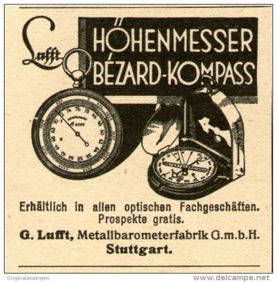 Original-Werbung / Inserat / Anzeige 1932 HÖHENMESSER BEZARD-KOMPASS - ca. 45 x 45 mm