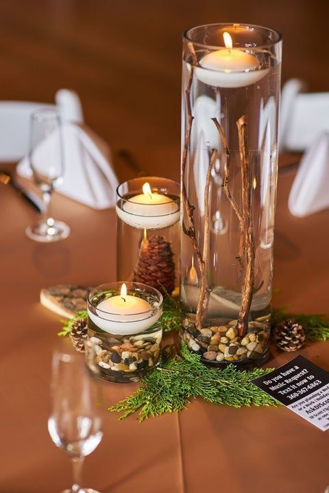 Top 37 Remarkable Rustic Wedding Centerpieces Floating Candles