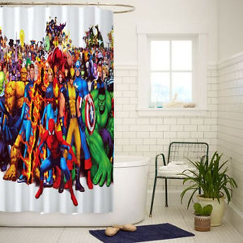 marvel comics all caracter high shower