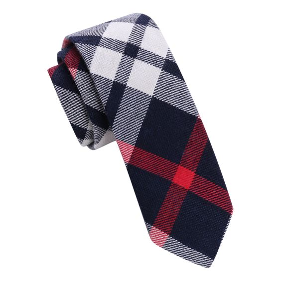 #Practicality meets #elegance in this skinny tie that requires no special handling for those on-the-go. Eye-catching with Brushed Cotton Finish, it has the look and feel of natural Cotton.