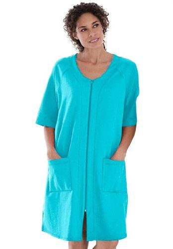 Save $8.00 on Dreams And Company Plus Size Short French Terry Robe; only $26.77