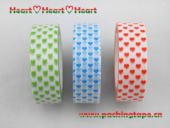 Litte heart,new tape for 2014.Happy Valentine. Found it in www.packingtape.cn