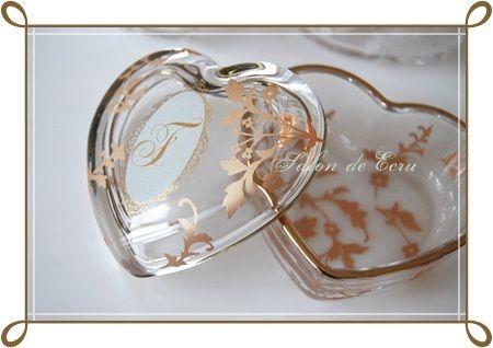 ハートガラスケース♪ の画像|Salon de Ecru