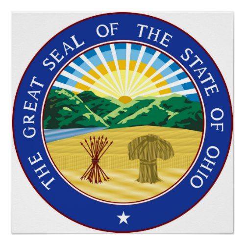 Ohio State Seal America Republic Symbol Flag Poster Zazzle Com
