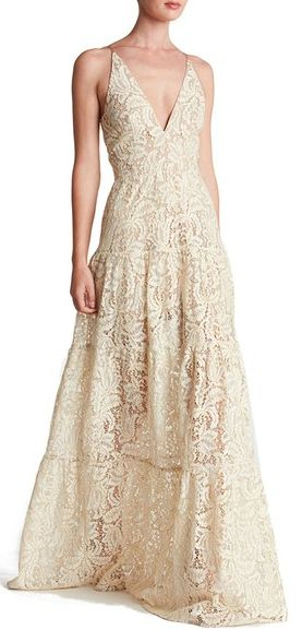 stunning lace fit and flare maxi dress
