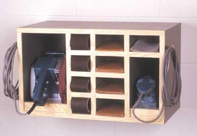 All-In-One Sander Cabinet Woodworking Plan, Workshop & Jigs Shop Cabinets, Storage, & Organizers
