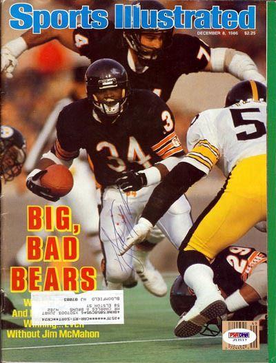 Walter Payton Autographed Sports Illustrated Magazine PSA/DNA