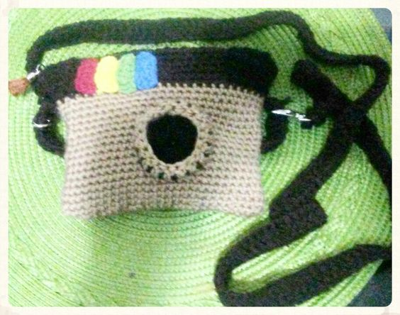 Small Instagram crochet bag. Tejido en crochet en medio punto