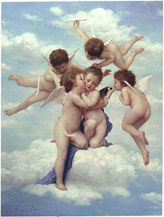 天使の絵画アモルとプシュケ