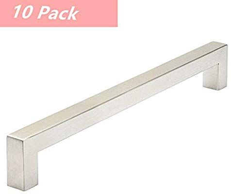 10 Pack Kitchen Cupboard Handles Drawer Pulls Brushed Nickel 10 Inch Hole Centers Stain Cupboard Handles Stainless Steel Cabinet Pulls Kitchen Cupboard Handles