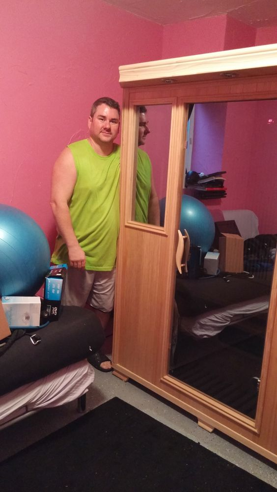 Good Health Saunas GS Series 3-Person Infrared Sauna Hemlock Wood Delivered and Installed. #happycustomer #healthyliving